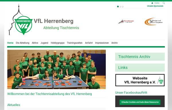 Vorschau von www.tischtennis-herrenberg.de, VfL Herrenberg - Tischtennis-Abteilung
