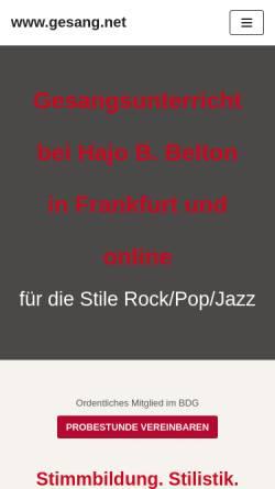 Vorschau der mobilen Webseite www.gesang.net, Belton, Hajo B.