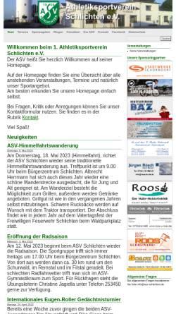 Vorschau der mobilen Webseite asv-schlichten.de, ASV Schlichten