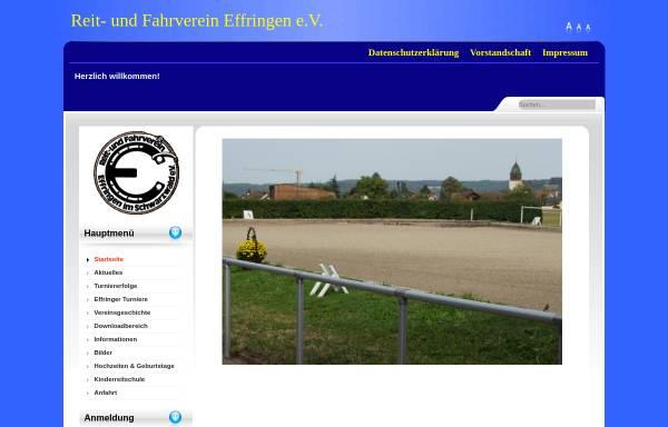 Vorschau von www.rfv-effringen.de, Reit- und Fahrverein Effringen