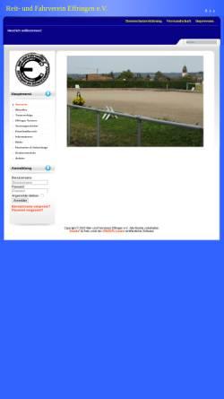 Vorschau der mobilen Webseite www.rfv-effringen.de, Reit- und Fahrverein Effringen