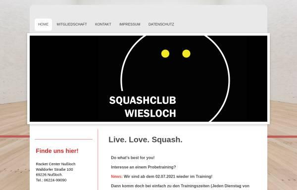 Vorschau von www.squashclub-wiesloch.de, Squashclub Wiesloch