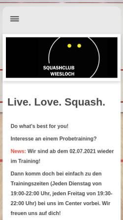 Vorschau der mobilen Webseite www.squashclub-wiesloch.de, Squashclub Wiesloch