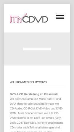 Vorschau der mobilen Webseite mycdvd.de, myCDVD - media driven, Axel Pommerening