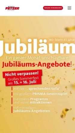 Vorschau der mobilen Webseite www.moebel-fetzer.de, Möbel Fetzer Inh. Helmut Fetzer