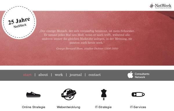 Vorschau von www.netwerk.de, NetWerk Internet Intranet Services GmbH