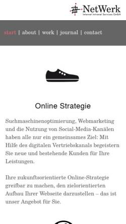 Vorschau der mobilen Webseite www.netwerk.de, NetWerk Internet Intranet Services GmbH