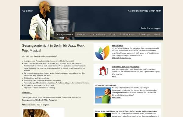 Vorschau von www.jazz-gesangsunterricht.de, Gitarrenunterricht in Berlin Mitte - Kai Bohun