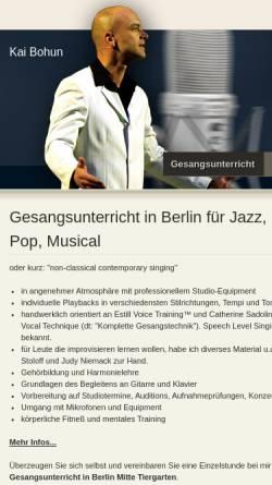 Vorschau der mobilen Webseite www.jazz-gesangsunterricht.de, Gitarrenunterricht in Berlin Mitte - Kai Bohun