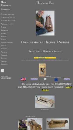 Vorschau der mobilen Webseite www.saitenklang.de, Drehleierbau - Helmut Seibert