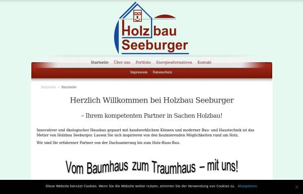 Vorschau von www.holzbau-seeburger.de, Seeburger Zimmerei – Holzbau