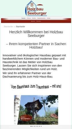 Vorschau der mobilen Webseite www.holzbau-seeburger.de, Seeburger Zimmerei – Holzbau