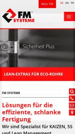 Vorschau der mobilen Webseite www.fm-systeme.de, FM-Systeme GmbH