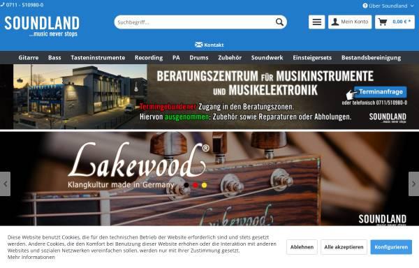 Vorschau von www.soundland.de, Soundland GmbH