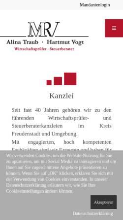 Vorschau der mobilen Webseite www.mmrv.de, MMRV Steuerberater, Wirtschaftsprüfer und Rechtsanwälte