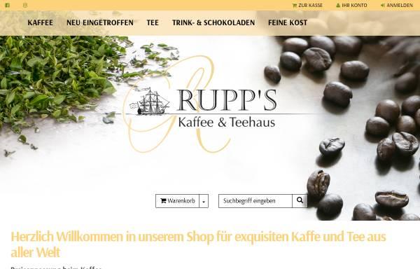 Vorschau von www.kaffee-teeversand.de, Rupps Kaffee- und Teehaus
