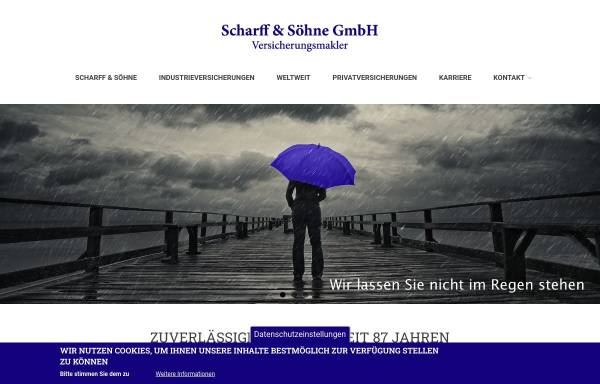 Vorschau von www.scharff.cc, Scharff & Söhne GmbH Versicherungsmakler