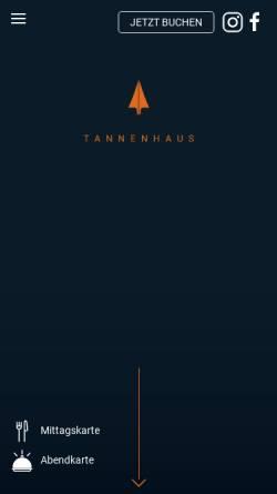 Vorschau der mobilen Webseite www.tannenhaus.de, Tannenhaus - Endlich mehr Schwarzwald - Häuser aus Tannenholz