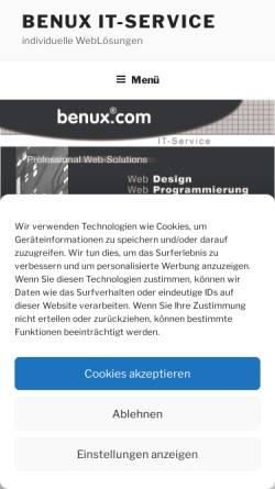 Vorschau der mobilen Webseite www.benux.de, Benux.de IT-Service