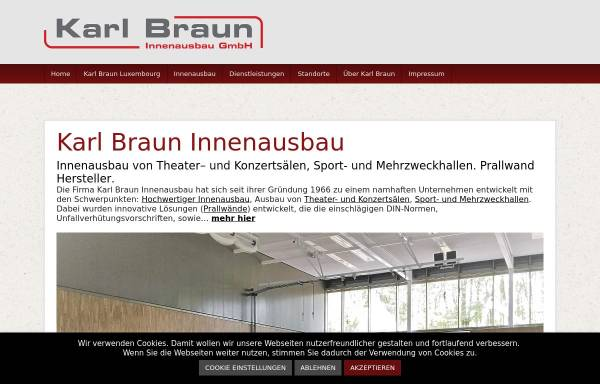 Vorschau von www.karl-braun-innenausbau.de, Karl Braun Innenausbau GmbH