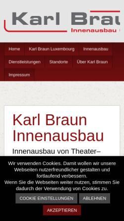 Vorschau der mobilen Webseite www.karl-braun-innenausbau.de, Karl Braun Innenausbau GmbH