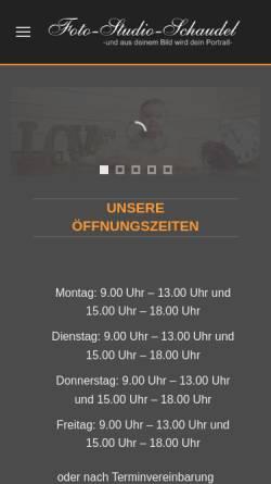 Vorschau der mobilen Webseite www.foto-schaudel.de, Foto-Studio-Schaudel