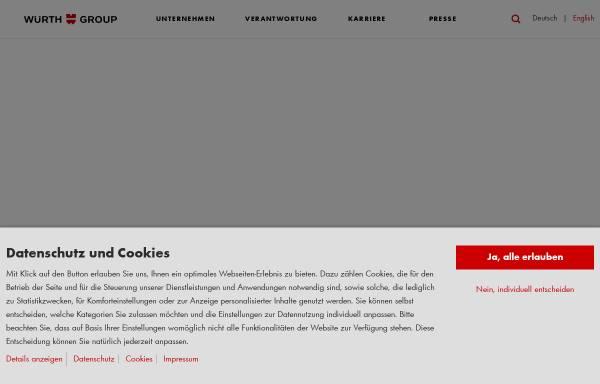 Vorschau von www.wuerth.com, Würth-Gruppe
