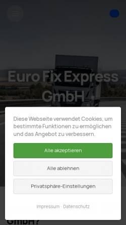 Vorschau der mobilen Webseite www.euro-fix-express.de, Euro Fix Express GmbH