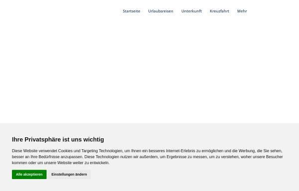 Vorschau von www.holidays-reisen.de, Reisebüro Holidays GbR