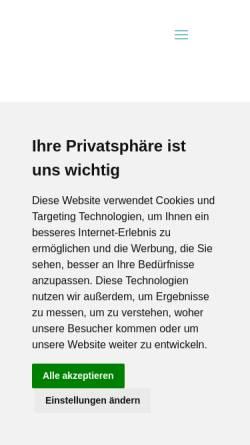 Vorschau der mobilen Webseite www.holidays-reisen.de, Reisebüro Holidays GbR