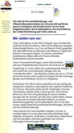 Vorschau der mobilen Webseite www.city-car.de, City-Car.de