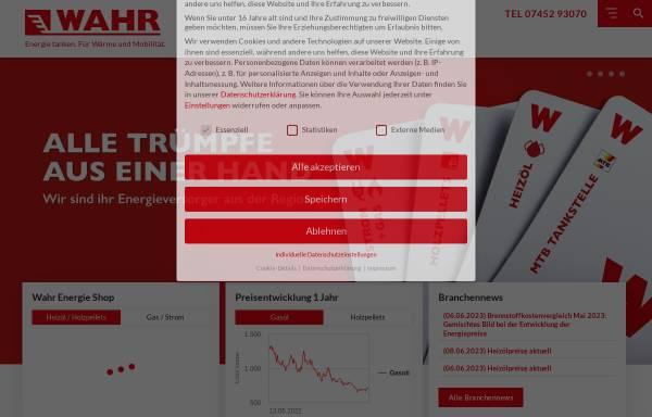 Vorschau von www.wahr-mtb.de, Fritz Wahr Energie GmbH & Co. KG