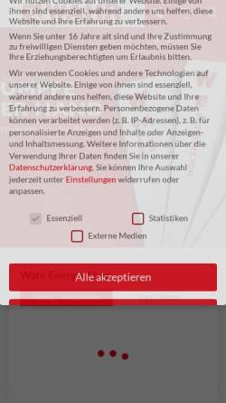 Vorschau der mobilen Webseite www.wahr-mtb.de, Fritz Wahr Energie GmbH & Co. KG