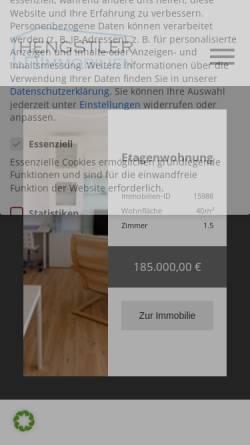 Vorschau der mobilen Webseite www.wohnenaufzeit24.com, Wohnen auf Zeit 24