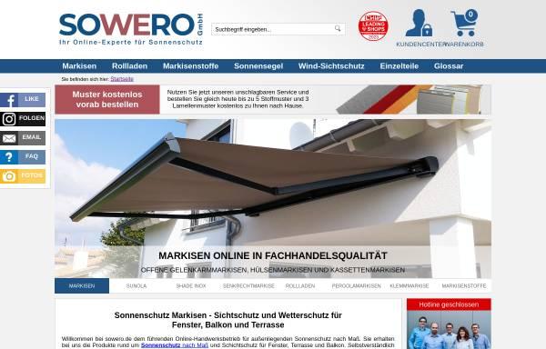 Vorschau von www.sowero.de, Sowero Bauelemente, Thomas Mattausch e.K.