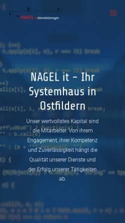 Vorschau der mobilen Webseite www.nagel-bytes.de, Nagel und Bytes