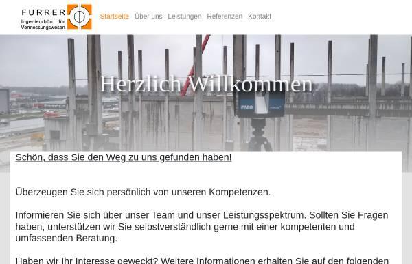 Vorschau von www.geofurrer.de, Furrer - Ingenieurbüro für Vermessungswesen