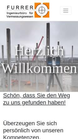 Vorschau der mobilen Webseite www.geofurrer.de, Furrer - Ingenieurbüro für Vermessungswesen