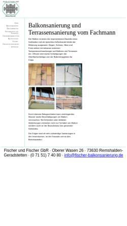 Vorschau der mobilen Webseite www.fischer-remshalden.de, Fischer und Fischer GbR