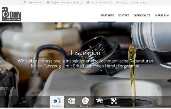 Vorschau von www.bohn-kfzmeisterbetrieb.de, Bohn KFZ-Meisterbetrieb
