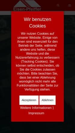 Vorschau der mobilen Webseite www.eisen-pfeiffer.de, Carl Pfeiffer GmbH & Co KG