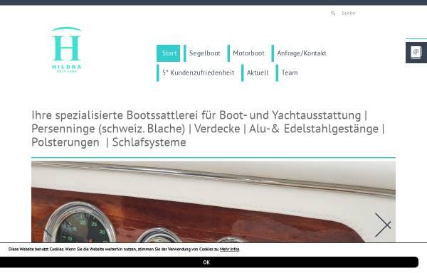 Vorschau von www.hildra.de, Hildra Bootsattlerei