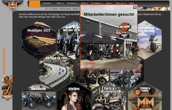 Vorschau von www.motorrad-matthies.com, Motorrad-Matthies Harley-Davidson Tuttlingen