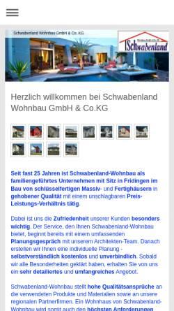 Vorschau der mobilen Webseite www.schwabenland-wohnbau.de, Schwabenland Wohnbau GmbH