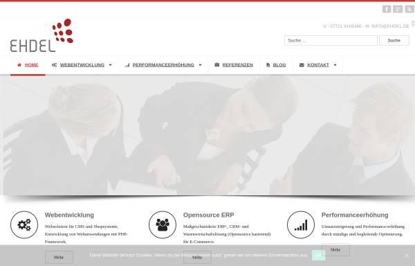 Vorschau von www.ehdel.de, Ehdel Business und Design Jiling Wang