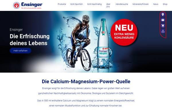 Vorschau von www.ensinger.de, Ensinger Mineral-Heilquellen GmbH