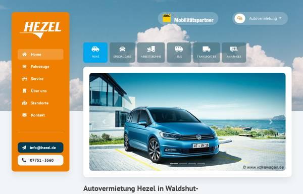 Vorschau von www.autovermietung-hezel.de, Autovermietung-Hezel