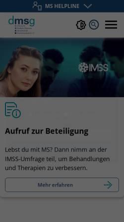 Vorschau der mobilen Webseite www.dmsg.de, Deutsche Multiple Sklerose Gesellschaft Bundesverband e.V.