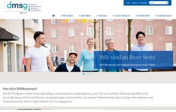 Vorschau von www.dmsg-bayern.de, Deutsche Multiple Sklerose Gesellschaft, Landesverband Bayern e. V.