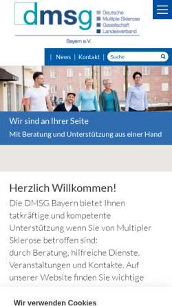 Vorschau der mobilen Webseite www.dmsg-bayern.de, Deutsche Multiple Sklerose Gesellschaft, Landesverband Bayern e. V.
